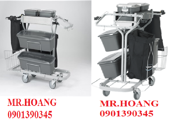 Compact Cleaning Trolley Plus 1